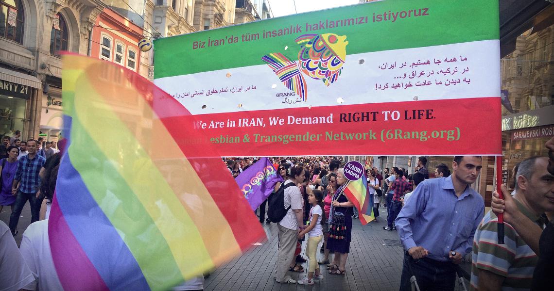 Gay pride parade, Istanbul, Turkey
