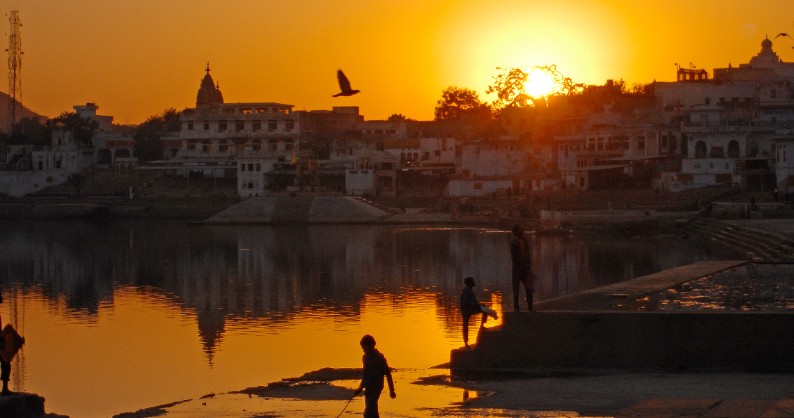 Sunset in Pushkar, India