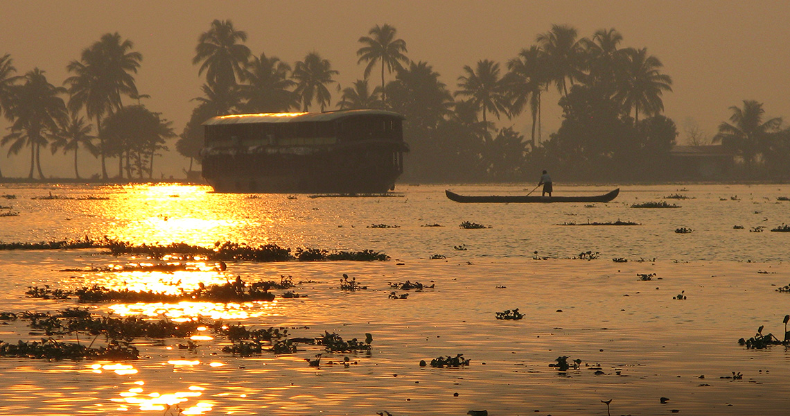 Sunset in Kerala, India – the southwest coast
