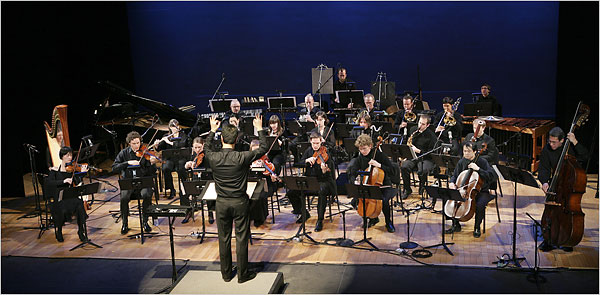 "Argento Chamber Ensemble: Michel Galante led the orchestra in ""In Vain"" at the Miller Theater."