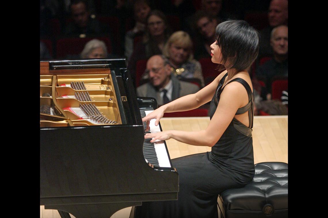 Yuja Wang at Carnegie Hall. Photo by: Hiroyuki Ito.