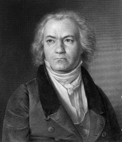 A portrait of Beethoven.